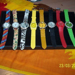 GENEVA NWT LOT OF 8 WATCHES ALL 4 ONE PRICE